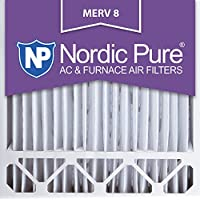 Nordic Pure 20x20x5HM8-1 MERV 8 Honeywell Replacement Air Filter , Box of 1