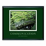 ADVANTUS Framed Motivational Print, Communication, 30 x 24 Inches, Black Frame (78026)