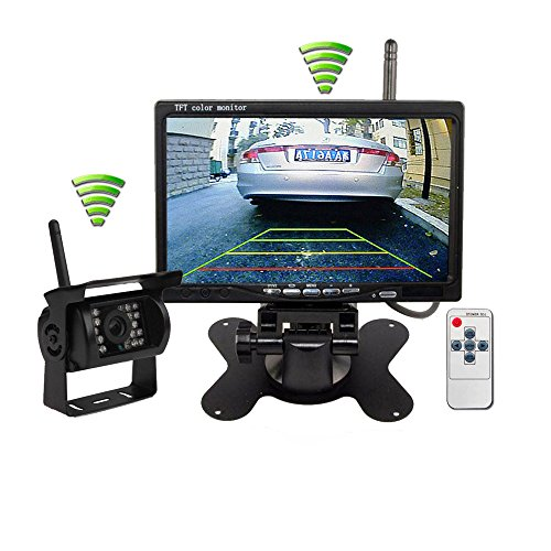 ATian Wireless Ir Night Vision Rear View Back up Camera System7 Monitor for Truck Trailer Bus