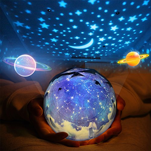 Star Night Light for Kids, Universe Night Light Projection Lamp, Romantic Star Sea Birthday New Projector lamp for Bedroom - 3 Sets of Film (Best Projector For Bright Room)