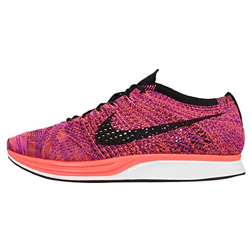 Nike Men's Flyknit Racer, Black/Black-Hyper Orange-Vivid Purple, 4.5 M US
