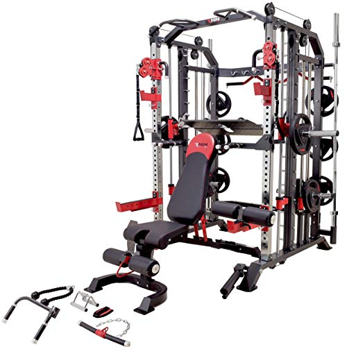 MiM USA Hercules 1001 Commercial Smith Machine Functional Trainer Power