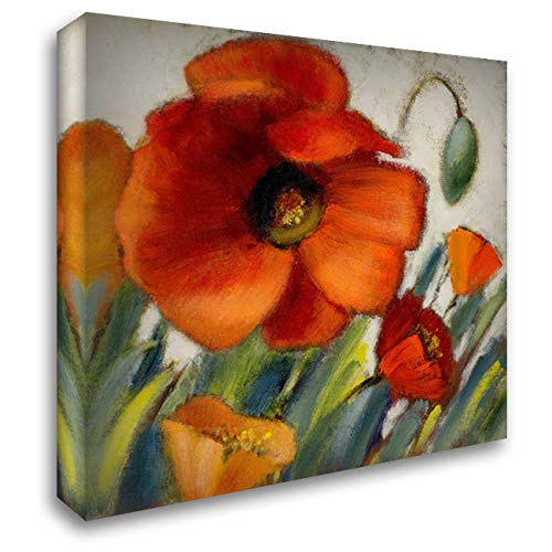 Poppy Splendor Square II 28x28 Gallery Wrapped Stretched Canvas Art by Loreth, Lanie