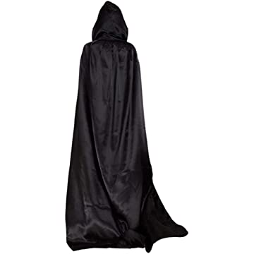 Miuniu Adult Children Solid Cosplay Cloak with Hat for Halloween Party Gift Baskets