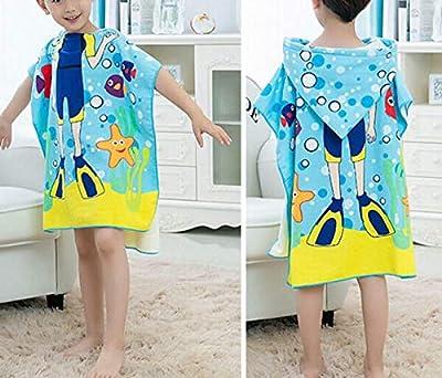 FidgetGear Absorbent Hooded Towel Bath Beach Bathrobe Wrap for Kids Boys Girls