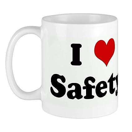 27e9fa8cf470 Amazon.com  CafePress I Love Safety! Mug Unique Coffee Mug