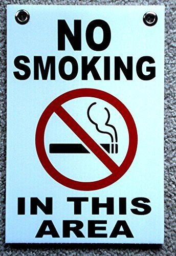 1 Pc Blameless Popular No Smoking in This Area Sign Yard Board Outdoor Decal Coroplast Size 8