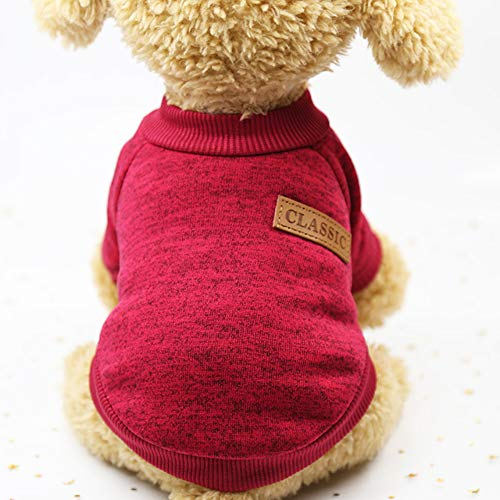 Per Caldi Cani Cuccioli Rosso Vino Maglioncino Mantello Ponticelli In Smoro Pile Gatto q5OXwTx