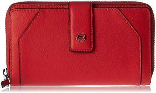 Con Rosso Porta Portafoglio Portamonete Donna Carte ZqR5RW