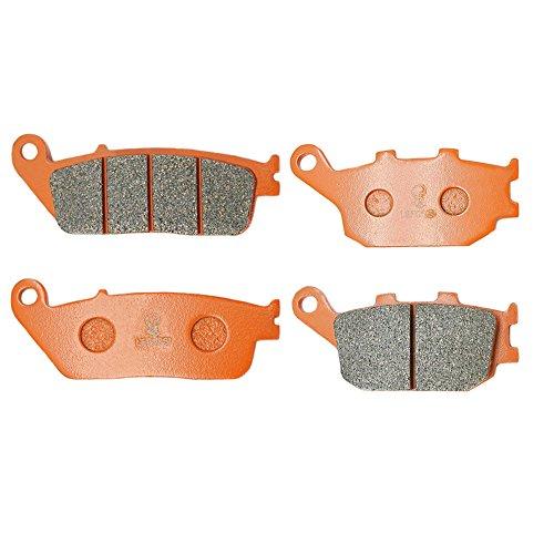 2015 Honda Vtx 1300 - Lefossi Front Rear Carbon Fiber Brake Pads Brakes for Honda VTX 1300 S Retro C R T 2003-2015 2009 2010 2011 2012 2013 FA196F FA174R