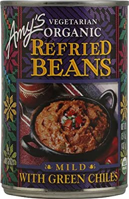 Amy's Organic Refried Beans Mild with Green Chiles -- 15.4 oz - 2 pc