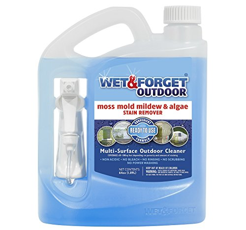 Price comparison product image Wet and Forget Outdoor Ready To Use Mildew Stain Remover, 64 oz