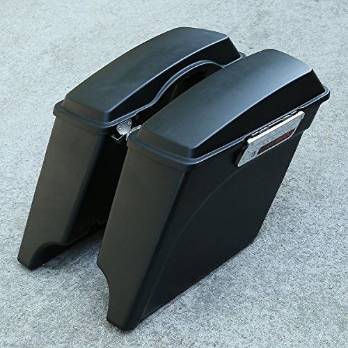 XMT-MOTO 5 Inch Stretched Extended Hard Saddle Bags For Harley Touring Models FLT,FLHT,FLHTCU,FLHRC,Road King,Road Glide,Street Glide,Electra Glide,Ultra-Classic 1993-2013