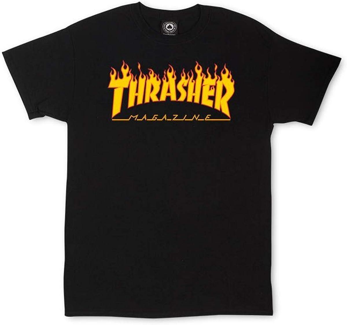 Thrasher Flame Short T-Shirt printed graphic T shirt | Lazada PH