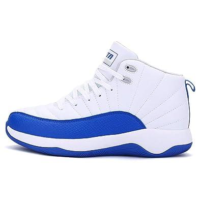Hombres Zapatillas Baloncesto Zapatos Antideslizante Exterior Alta Azul Zapatillas Cordones Zapatillas: Amazon.es: Zapatos y complementos
