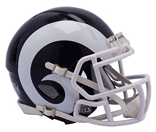 Revolution Football Helmet Face Masks - Los Angeles Rams White Horns and face mask Riddell Speed Mini Football Helmet - New in Riddell Box