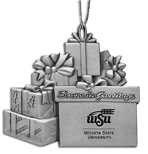Wichita State University - Pewter Gift Package Ornament