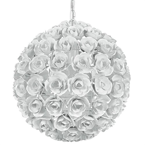 (Crystorama 537-WW Leaf, Flower, Fruit One Light Mini Chandeliers from Cypress collection in Whitefinish,)