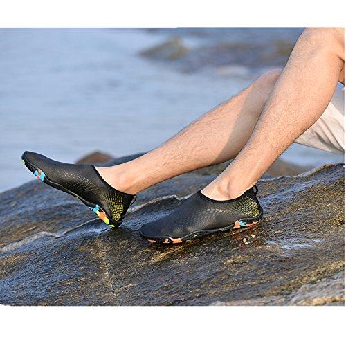 Yoga Oro da Immersione Mare Calzini Nudi Aqua da KuBua Scarpe Surf Ballo Scarpe Bagno Piedi Beach Spiaggia Nero Swim Sportive Scarpette Uomo B Donna R4q0nwFg