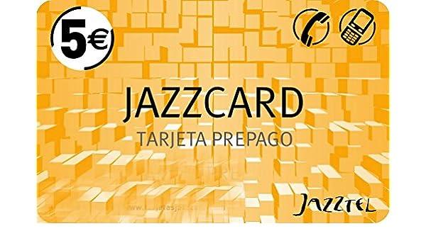Tarjeta prepago Jazzcard, de Jazztel con 5 Euros en saldo: Amazon ...