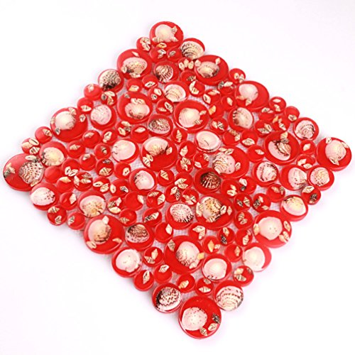 - 3D Penny Round Resin Tiles Mother Of Pearl Tile Sea Shell Subway Conch Mosaic Red Kitchen Backsplash Materials [Pack of 11PCS(11.8x11.8x0.31 Inches/each)] (AEENCD0005-11PCS(11.8x11.8x0.31Inches/PCS))