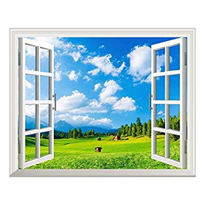 Removable Wall Sticker Wall Mural Blue Sky and...24