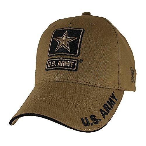 U.S. Army Star Logo Hat - Coyote Brown Baseball Cap