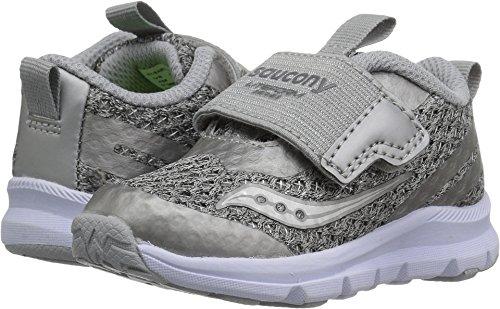 Saucony Girls' Baby Liteform Sneaker, Light Grey, 7 Medium US Toddler