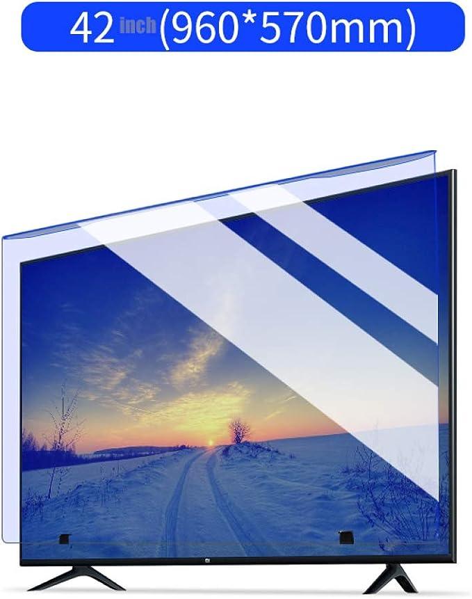 HUYYA 42 Pulgadas de luz Azul Protección de Pantalla para la TV, Anti Luz Azul Screen Protector Antideslumbrante Anti-rasguños Reduce la Fatiga Visual Digital ayudará a Dormir Mejor,E: Amazon.es: Hogar