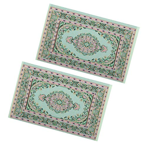 NATFUR 12th Floor Covering Turkish Style Rugs Embroidery Cloth Mat for Dollhouse from NATFUR