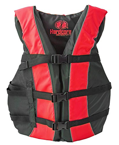 Hardcore Water Sports High Visibility USCG Approved Life Jackets for The Whole Family ()