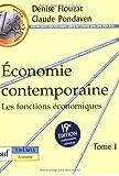 Économie contemporaine, tome 1 : Les fonctions économiques
