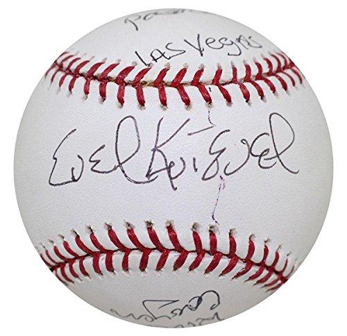 Evel Knievel Signed Heavily Inscribed Baseball Caesars Palace  Las Vegas Coa   Jsa Certified
