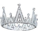 Wedding Crown, Beautiful headdress/Bridal Baroque Crystal Queen Crown Wedding Headwear Photo Studio Wedding Dress Pearl Jewelry