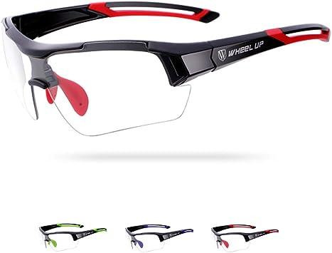 Wheelup Inserción Unisex para Todo Clima Lentes de decoloración/Tinte automático de Lentes Gafas de Sol fotocromáticas, Gafas Ideales para Ciclismo