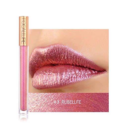 FOCALLURE Waterproof Long Lasting Moisturizing Lipstick Cosmetics Women Sexy Lips Metallic Lip Gloss-From Fenleo