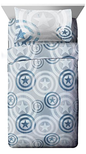 Marvel Captain America Lifestyle Shield Queen Sheet Set