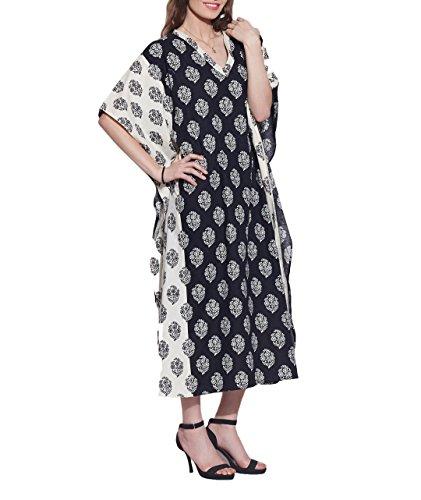 Coton Kaftan vetements de nuit robe indienne pour les femmes Imprime