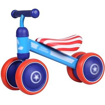 Bicicletas sin pedales Carro de Deslizamiento Deslizante para Carro Deslizante para Carro con Asiento bajo - Azul (Color : Blue, Size : 55 * 24 * 41cm): ...