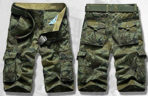 Panegy Adultes Combat Shorts pour Homme/Garçon Coton Bermudas Treillis Militaire Cargo Armée Pantalon de Travail… 2