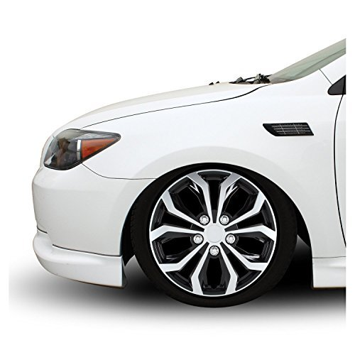 Pilot WH553-15S-BS Universal Fit Spyder Black/Silver Finish 15 Inch Wheel Covers - Set of 4