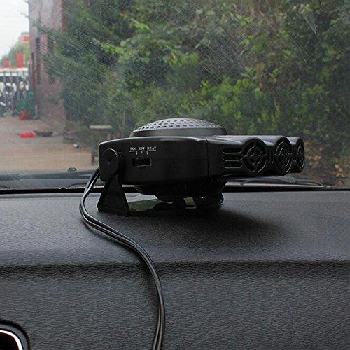 Villexun Car Heater 2 in1 Portable Auto Car Van Heater + Defroster Cool Fan Windscreen Window Demister 12V 150W