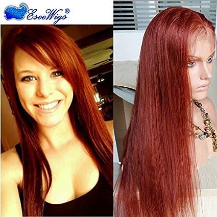 Eseewigs # 35 Pelucas llenas del pelo humano del cordón del color Peluca llena brasileña del