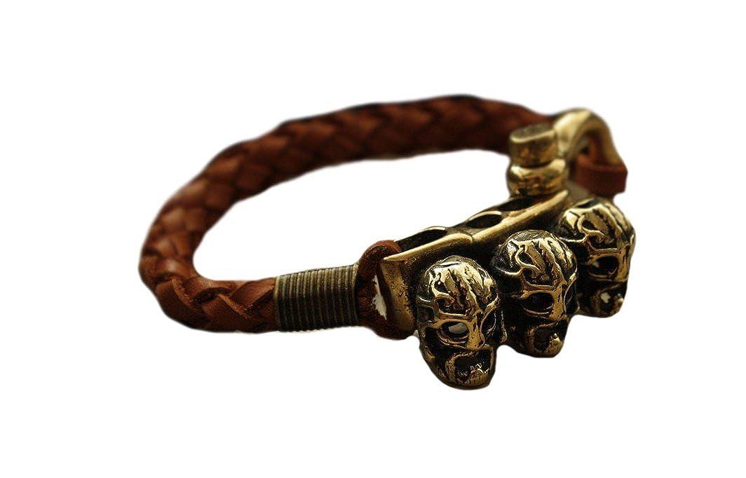 Bracelet Vikings Berserks Bronze Leather Vintage Handmade