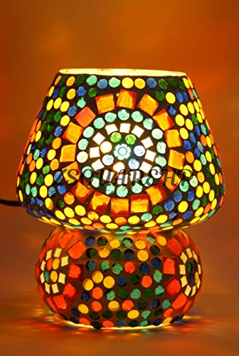 zsquarehp Glass Table Lamp, Multicolour, Pack of 1