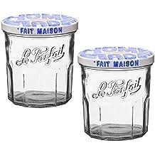 Le Parfait Glass Jam Jar Fait Maison For Homemade Jam or Decoration, 324ml (Pack of 2)