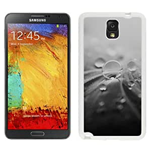 Nature Leaf Raindrops Macro Dark Art (2) Durable High Quality Samsung Note 3 Case