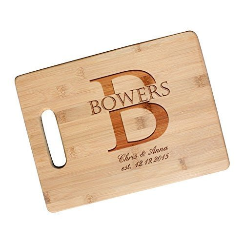 Custom Engraved Cutting Board for Couples