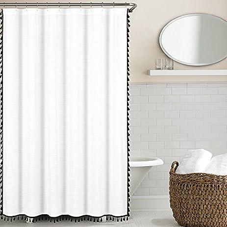 Tassel Shower Curtain Black
