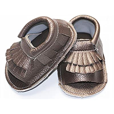 Royal Cutie Baby Sandal Moccasins Crib Shoes First Walkers - Bronze